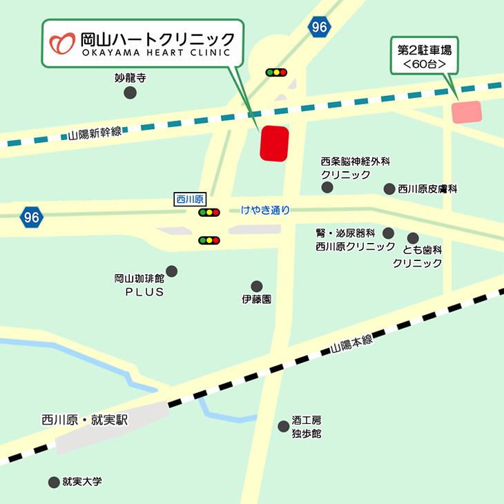 クリニック周辺マップ
